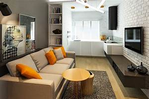How to decorate a kitchen that39s also part of the living room for Small living room and kitchen together design