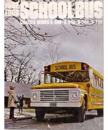 ford school bus sales brochure