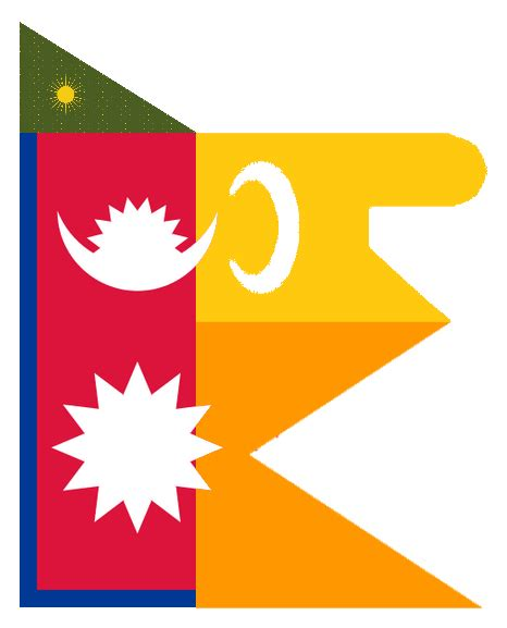 Flag Of Nepal If It Was Jointly Colonized By The Maratha