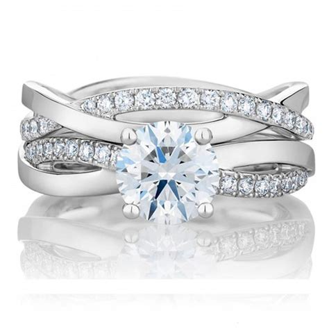 superb star new arrival style 1ct engagement ring matched wedding band synthetic diamonds