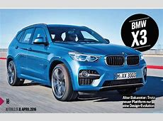 2017 BMW X3 rendering shows a sportier design
