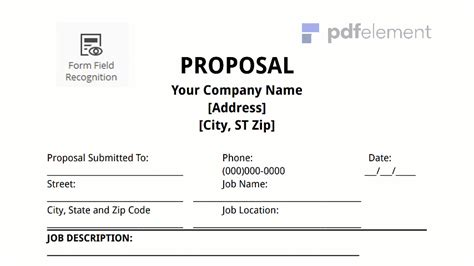 Template For Job Proposal Costumepartyrun