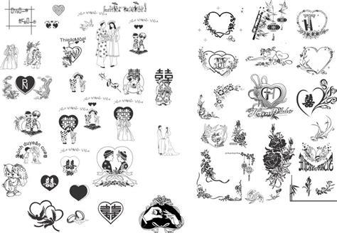 vector heart design wedding invitation card  vector
