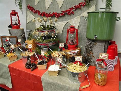 Camping Theme Party, Birthday And Graduation Ideas