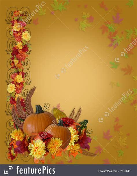 templates thanksgiving fall autumn border stock