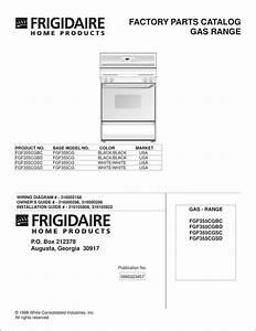Frigidaire Fgf355cgbc Factory Parts Catalog Pdf Download