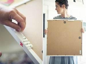 Accrocher Un Tableau Sans Trou : 5 fa ons d 39 accrocher des cadres sans trouer son mur ~ Premium-room.com Idées de Décoration