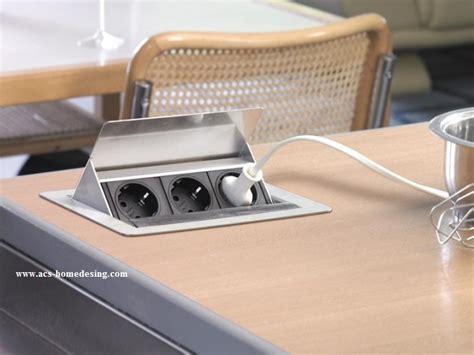 prise electrique design cuisine franke evoline prise electrique escamotable fliptop 012074