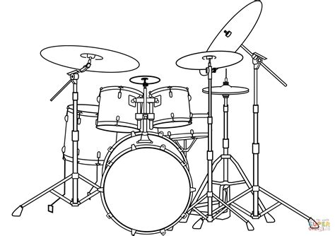 coloring set drum set coloring page free printable coloring pages