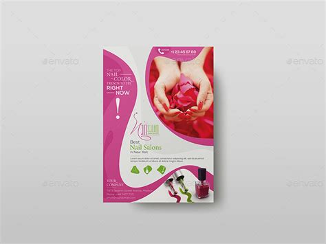 nail salon flyer template  wutip graphicriver