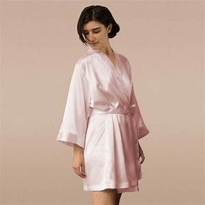 1 solid robes pink silk robe custom robes personalized With bridesmaid robes