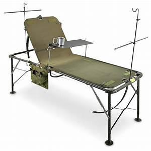 Used U S  Military Folding    Adjustable Hospital Bed
