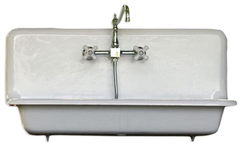 high back kitchen sink consigned 36 quot wide high back cast iron farmhouse sink