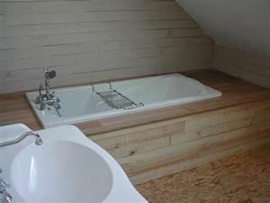 Habillage De Baignoire : habillage d 39 une baignoire en voliges brutes de sciage salle de bain en 2019 pinterest ~ Dode.kayakingforconservation.com Idées de Décoration