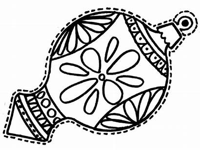 Coloring Christmas Ornaments Ornament Pages Printable Decorations