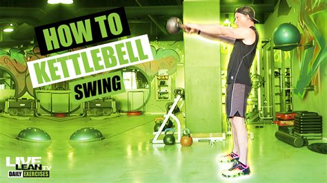 swing kettlebell workout demonstration
