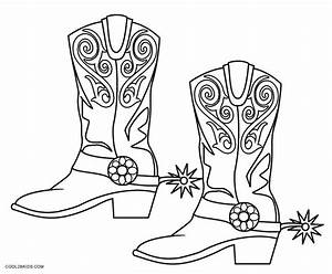 Cowboy Boots And Hats Coloring Pages - Coloring Pages Ideas