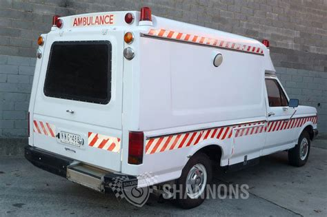 sold ford  ambulance auctions lot  shannons