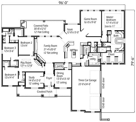 floor plan for my house single story plan this is my dream floor plan but the game room next to the master will be our