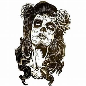 Tete De Mort Mexicaine Femme : tatouage ph m re et temporaire t te de femme mexicaine ~ Melissatoandfro.com Idées de Décoration