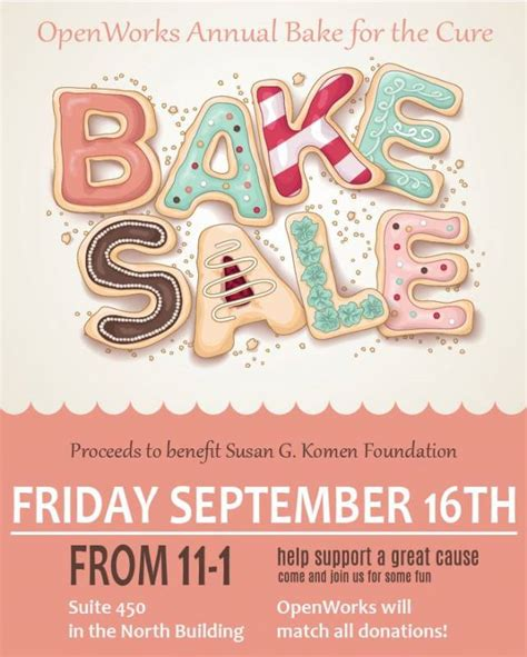 openworks annual bake sale raises money  breast cancer