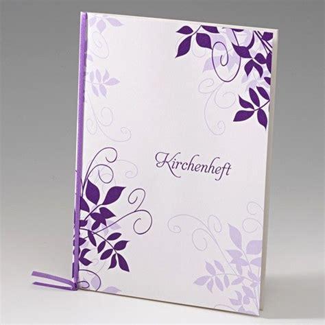 bezauberndes kirchenheft hochzeit im lila design