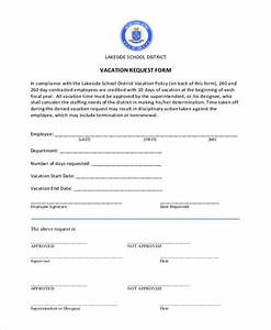 Free 7 Sample Employee Vacation Request Forms In Pdf Ms