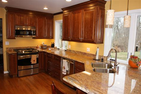 pictures of kitchens with cherry cabinets one of