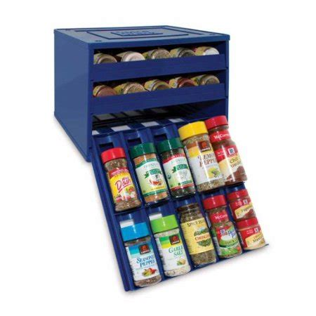 Youcopia Spice Rack by Youcopia Original Blue 30 Bottle Spicestack Spice