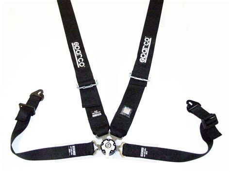 sparco seat belt harness competition black 4 point snap