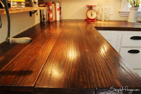 Diy Wide Plank Butcher Block Counter Tops  Simplymaggie