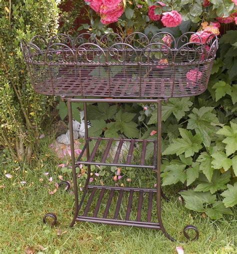 Gartendeko Nostalgie by Pflanztisch Etagere Metall Antik Nostalgie Landhausstil