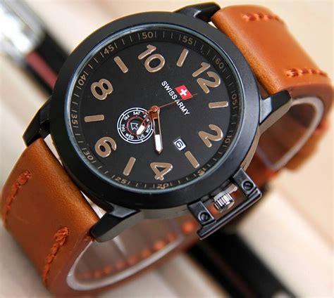 Jam Swiss Army Tengkorak Brown jam tangan swiss army sa8078 tali kulit delta jam tangan