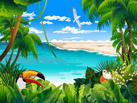 Animated Tropical Wallpaper - tropical animation top desktop no 1