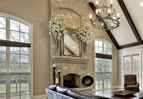living room designs  fireplaces decor outline
