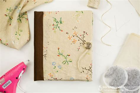 diy journal  tea stained paper