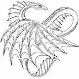 Dragon Coloring Hard Pages Colouring Printable Getcolorings sketch template