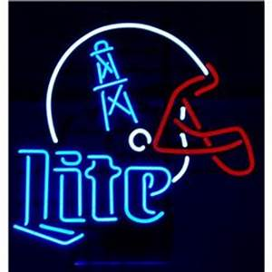 Houston Oilers Lite Beer Neon Sign