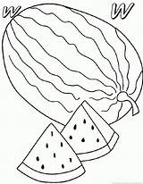 Coloring Watermelon Melon Fruit Printable Designlooter 930px 15kb Popular sketch template