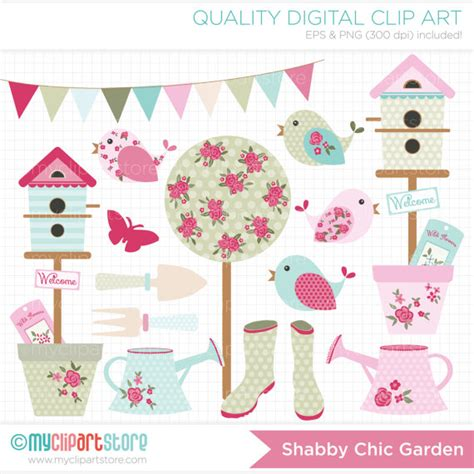 shabby chic clip clipart shabby chic garden gardening clipart bunting
