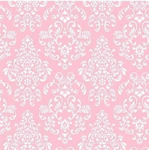 York Wallcoverings Kids Delicate Pink Damask Wallpaper ...