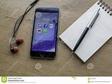 RIGA, LATVIA - November 1, 2015: Apple IPhone With Social ...