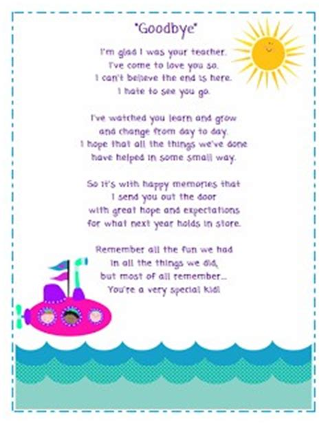quotes about saying goodbye to preschool students quotesgram 343 | 1866927250 poem preview image