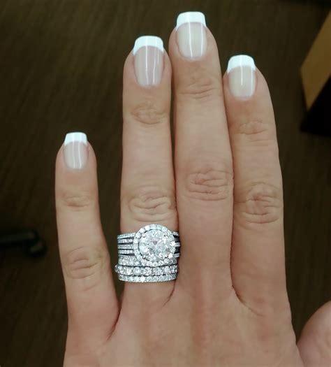 engagement ring plus wedding band engagement ring with 3 78carat round diamond plus diamond