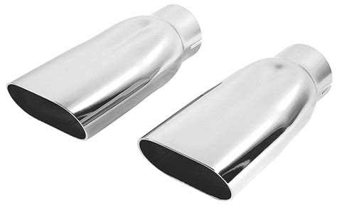 Restoparts Chevelle Exhaust Tips, 196972 Oval Chrome 21