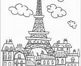 Eiffel Tower Coloring Printable Paris Drawing Getdrawings Getcolorings sketch template