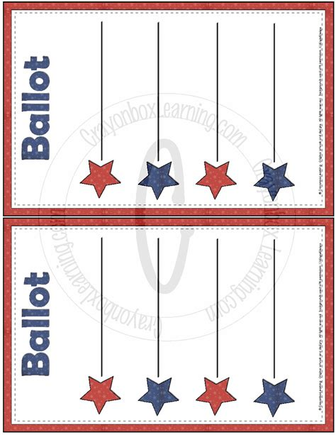 voting template blank ballot template free large images