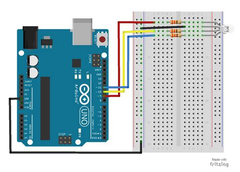 Arduino Uno Circuit Diagram Pdf by 15 Arduino Uno Breadboard Projects For Beginners W Code Pdf