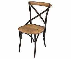Chaise Bois Et Fer : chaise fer et bois naturel et noir l54 129 wood ~ Melissatoandfro.com Idées de Décoration