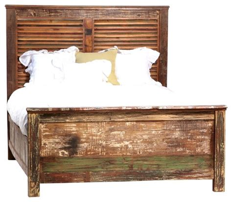 shabby chic york shabby chic louvered queen bed eclectic beds new york by zin home